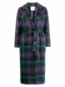 Giada Benincasa plaid print coat - Blue