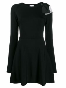 Red Valentino point d'esprit panel dress - Black