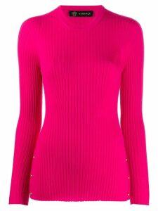 Versace side Medusa button jumper - Pink