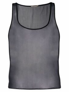 Saint Laurent sheer tank top - Black