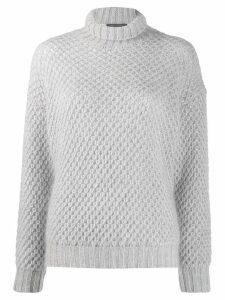 Alberta Ferretti knitted roll neck jumper - Grey