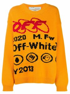 Off-White industrial logo sweater - Yellow