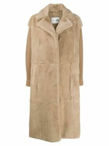 Manzoni 24 straight fit coat - Neutrals
