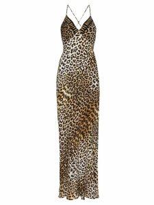 Rockins leopard-print maxi-dress - Brown