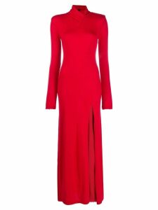 Unravel Project knitted long dress - Red