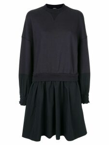 Goen.J layered sweatshirt dress - Blue