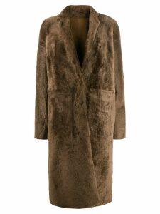 Yves Salomon single breasted coat - Green