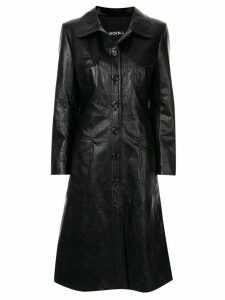 Goen.J Geiza vegan leather coat - Black