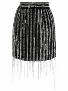 Amen fringed sequin skirt - Black