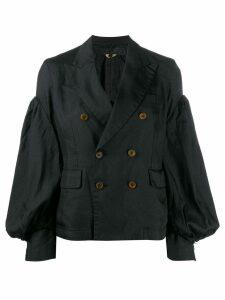 Comme Des Garçons Comme Des Garçons double-breasted short coat - Black