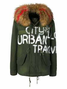 Mr & Mrs Italy printed parka coat - Green