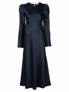 Maggie Marilyn satin finish fluted midi dress - Blue