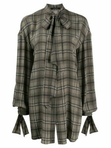 Rokh deconstructed check shirt - 2069 Brown Check