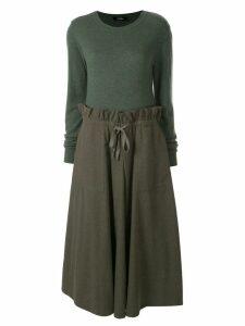 Goen.J panelled jumper dress - Green