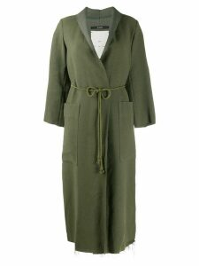 Song For The Mute long belted coat - Green