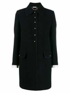 Miu Miu half-button single-breasted coat - Black