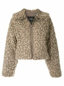 Goen.J Faux shearling jacket - Brown