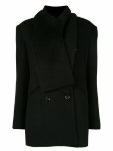 Goen.J embellished scarf blazer - Black