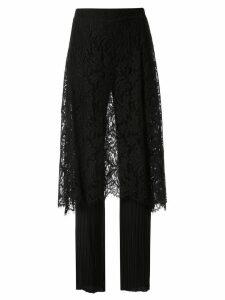 Goen.J layered chiffon trousers - Black