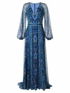 Tadashi Shoji floral evening dress - Blue