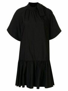 Goen.J balloon sleeve mini dress - Black