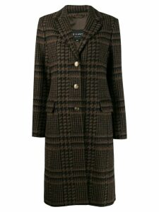 Etro button up houndstooth coat - Brown