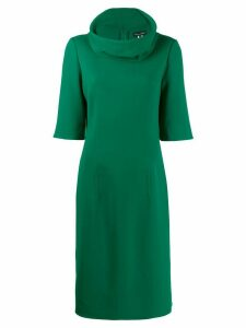 Oscar de la Renta cowl neck pencil dress - Green