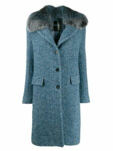 Ermanno Scervino fur collar trim peacoat - Blue