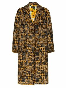 Dolce & Gabbana single-breasted tweed coat - Black