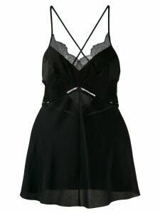 Victoria Beckham lace panelled cami top - Black