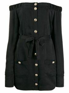 Balmain off-the-shoulder dress - Black