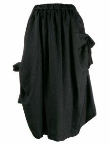 Comme Des Garçons Comme Des Garçons asymmetric midi skirt - Black