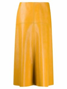 Stella McCartney faux leather skirt - Yellow