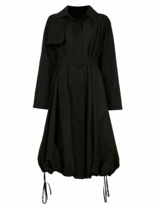 Goen.J Balloon trench coat - Black