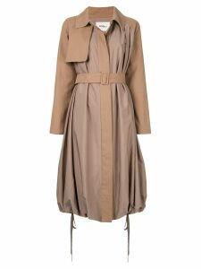 Goen.J Balloon trench coat - Brown