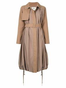 Goen.J Balloon trench coat - Brown