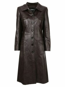 Goen.J Geiza vegan leather coat - Brown