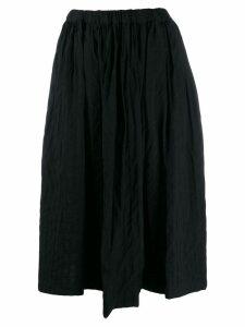 Comme Des Garçons Comme Des Garçons asymmetric pleated skirt - Blue