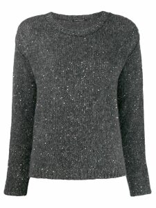 Luisa Cerano side slit jumper - Grey