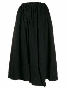 Comme Des Garçons Comme Des Garçons asymmetric pleated skirt - Black