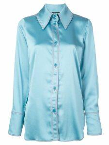 Stine Goya satin finish shirt - Blue