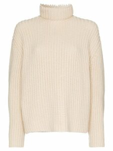 Loewe pearl trim open back jumper - Neutrals