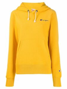 Champion embroidered hoodie - Yellow
