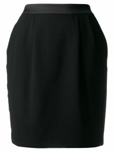 Karl Lagerfeld satin trim skirt - Black