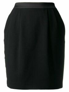 Karl Lagerfeld satin trim skirt - Black
