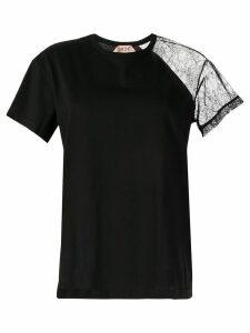 Nº21 lace sleeve T-shirt - Black