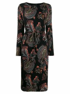 Etro patterned midi dress - Black