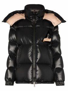 Moncler Wilson logo patch puffer jacket - Black
