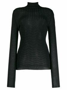 M Missoni turtleneck ribbed knit jumper - Black