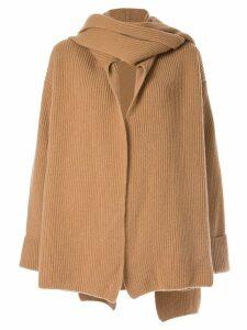 Nehera ribbed knit cardigan coat - Neutrals